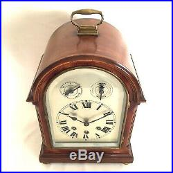Antique WESTMINSTER CHIME Bracket Clock Early C20th Mahogany Excellent