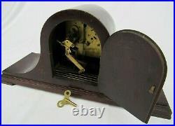 Antique WESTMINSTER CHIMES clock German KIENZLE Mantle key Original Condition