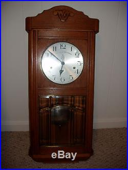 Antique Westminster 8-day Wall Clock withWestminster Chime