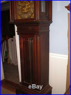 Antique-Westminster Chime-5 Tube-Mahogany-Grandfather Clock-Ca. 1900