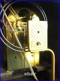 Antique Westminster Chime Bracket Clock Art Nouveau 8-Day Musical Mantel 1900