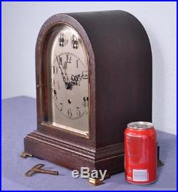Antique Westminster Chime Clock with Mahogany & Bronze Case from Germany