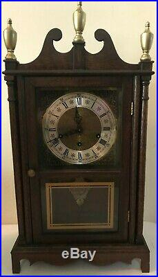 Antique Westminster Chime German Eight Day Shelf Mantle Clock Works Great