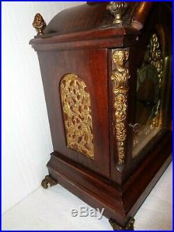 Antique-Winterhalder and Hoffmeier-Bracket Clock-Westminster Chime-Ca. 1890-#T368
