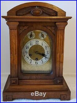 Antique Working JUNGHANS Westminster Chime German Bracket Mantel Shelf Clock A11