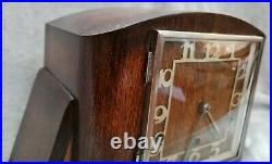 Antique art deco Clock Westminister Chime working large 32w x 22h x 15d cms