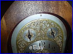 Antique waterbury westminster chimes doric clock mahogany large