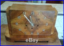 Art-Deco Antique Mantle Clock-Large, Westminster Chime Lovely Patina. Pics