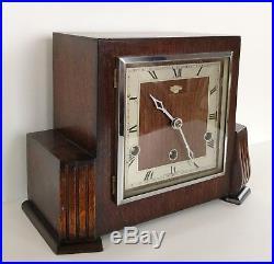 Art Deco Bentima Oak Westminster Chiming Clock