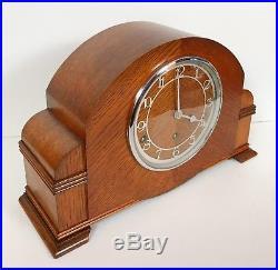 Art Deco Garrard Oak Westminster Chiming Clock