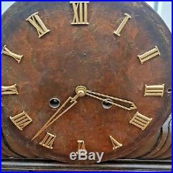 Art Deco German Kienzle Westminster Walnut Chiming Clock