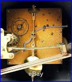 Art Deco German Oak Westminster Chiming Mantle Clock