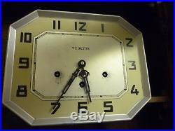 Art Deco Vedette Fedehor Westminster Chime Wall Clock Needs Case Tidying