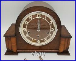 Art Deco Westminster Chime Oak Mantle Clock