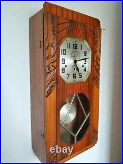 Art Deco Westminster Chime Wall Clock Kienzle Clock