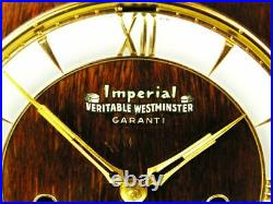 Art Deco Westminster Chiming Mantel Clock Imperial