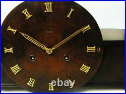 Art Deco Westminster Chiming Mantel Clock Junghans Meister Masterpiece Germany