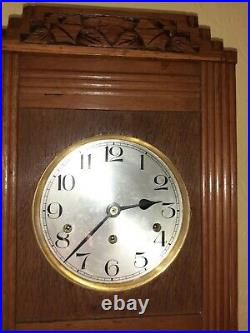 Art Deco wall clock Westminster chimes