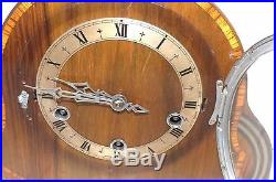 Art deco clock, has mechanical westminster chimes movement