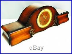 Beautiful Art Deco Bariton Westminster Chiming Mantel Clock With Pendulum