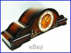 Beautiful Art Deco Bassclock Westminster Chiming Mantel Clock With Pendulum