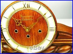 Beautiful Art Deco Belcanto Westminster Chiming Mantel Clock With Pendulum