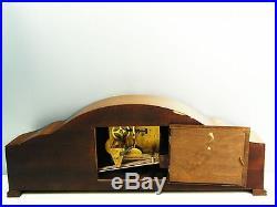 Beautiful Art Deco Hermle Westminster Chiming Mantel Clock With Pendulum