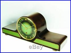 BEAUTIFUL ART DECO WESTMINSTER CHIMING MANTEL CLOCK from LAUFFER