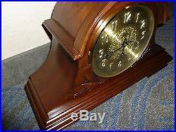 BEAUTIFUL MAHOGANY SLIGH Mantel Clock Model 0503-1-AN WESTMINSTER CHIMES