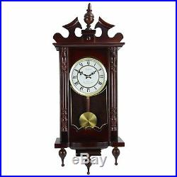 BEDFORD CLASSIC 31 CHERRY OAK FINISH GRANDFATHER WALL CLOCK with4 CHIMES PENDULUM