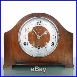 BENTIMA PERIVAL Mantel Clock Vintage WESTMINSTER Chime! UK Mid Century RESTORED