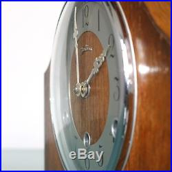 BENTIMA PERIVAL Mantel Clock Vintage WESTMINSTER Chime! UK Mid Century RESTORED