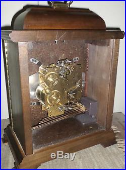 Breathtaking German Hamilton 8 Day Westminster Chime Wood Carriage Mantel Clock