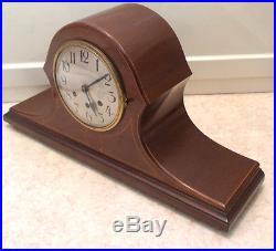 Badische Uhrenfabrik German Mahogony Inlaid Westminster Chimes Mantle Clock GWO