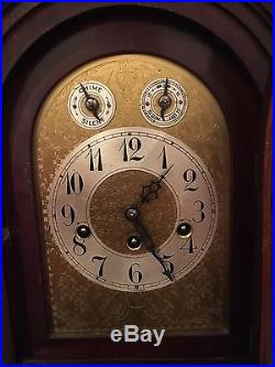 Beautiful Antique Junghans German Mahogany Clock withWestminster Chime