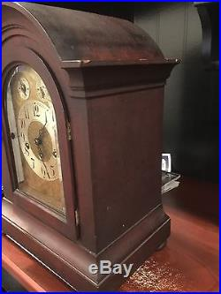 Beautiful Antique Junghans German Mahogany Clock withWestminster Chime WORKS