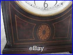 Beautiful Antique SETH THOMAS Shelf Mantle Clock Mahogany Case Westminster Chime