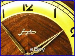 Beautiful Art Deco Junghans Westminster Chiming Mantel Clock Germany