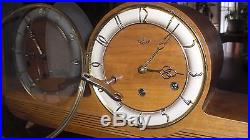 Beautiful Art Deco Westminster Anker Chiming Mantel Clock MID Century