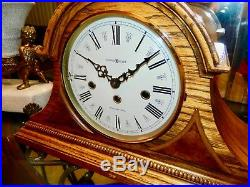 Beautiful HOWARD MILLER Key-wound WESTMINSTER Chime Mantel CLOCK
