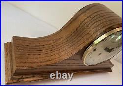 Beautiful HOWARD MILLER Tambour Westminster Chime Oak Mantle Shelf Clock 340-020