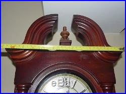 Beautiful HOWARD MILLER Wind Up Wall Clock Pendulum Westminster Chime 620-234