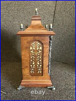 Beautiful LAURIS MOON PHASE WESTMINSTER CHIME MANTEL CLOCK W Key Made In Germany