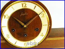 Beautiful Later Art Deco Junghans Westminster Chiming Mantel Clock Germany