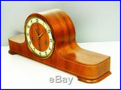 Beautiful Later Art Deco Westminster Chiming Mantel Clock From Junghans