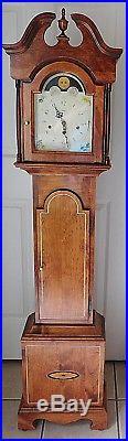 Beautiful OOAK Hentschel Franz Hermle Westminster Chime 5' Grandmother Clock