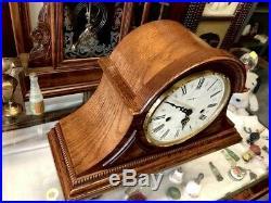 Beautiful Oak Howard Miller Westminster Chime-worthington Mantle Clock 613-102