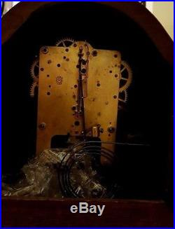 Beautiful! Rare Seth Thomas, Mahogany, Westminster Chime Mantel Clock