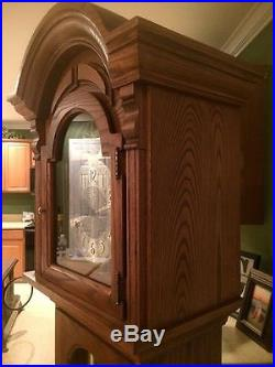 Beautiful SethThomas Weight Driven Grandfather Clock Westminster Chime