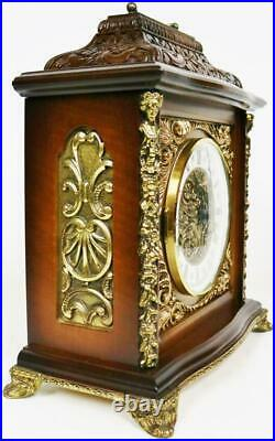 Beautiful Vintage German 8 Day Hermle Carved Westminster Chime Mantel Clock